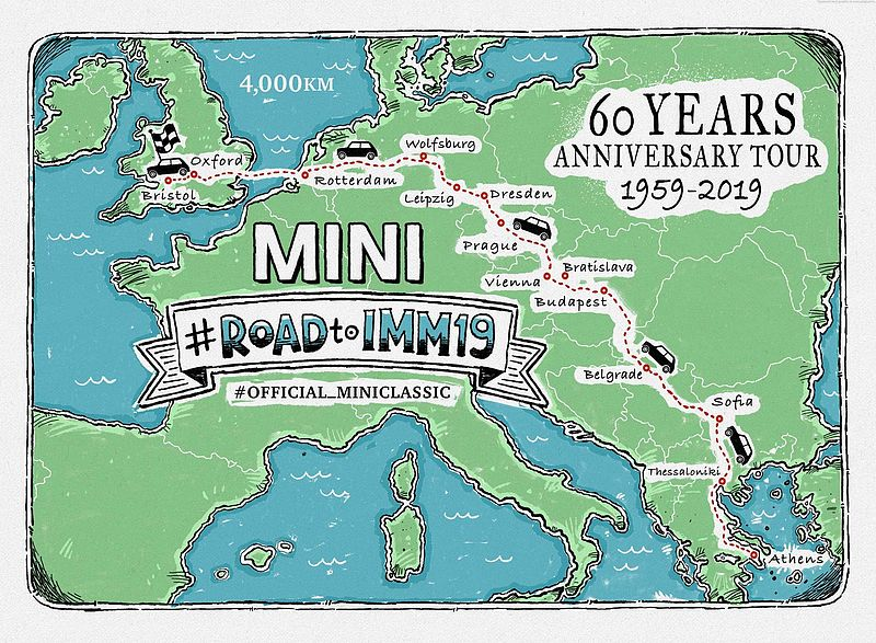 #ROADtoIMM19: Im classic Mini zum International Mini Meeting 2019.